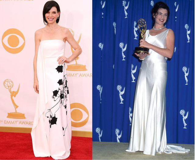 Julianna Marguiles 2013-ban, balra, és 1995-ben, jobbra.