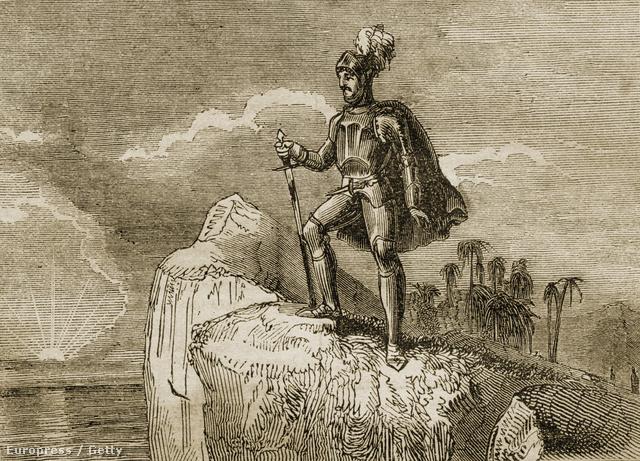 Vasco Núñez de Balbao először pillantja meg a Csendes-Óceánt 1513-ban