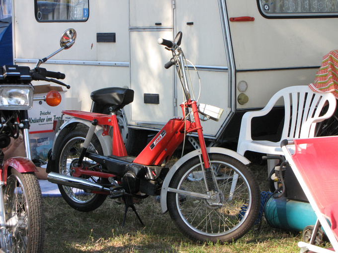 Some were really well-equipped: the camping is big, a Czechoslovakian made Babeta roller comes in handy