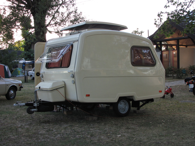 The Predom Prespol 126 is a caravan made in Poland, designed to be towed by the Polski Fiat 126P, a car smaller than a Smart. The caravan was even sold in Canada, called Taurus Cadet over there