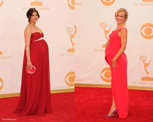 Íme a várandósok: mindketten a piros egy-egy árnyalatát választották.