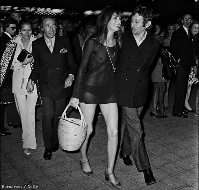 A Pierre Grimblat által rendezett Slogan című film premierjére a színésznő merész ruhában érkezett...