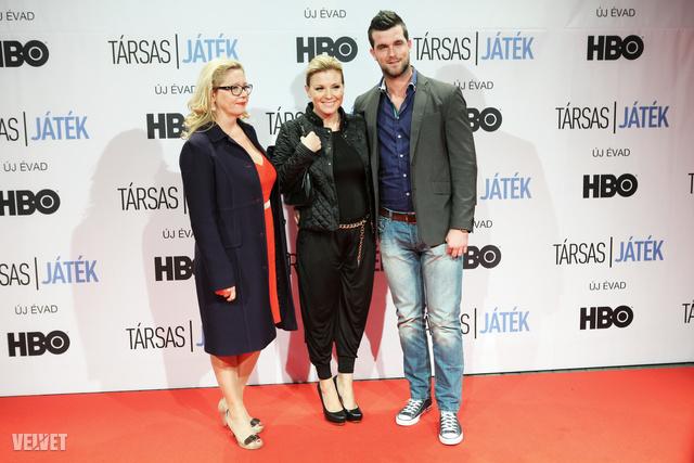 Antal Ilona, a Pioneer Productions stúdió vezetője, Liptai Claudia és Szabó Benjámin