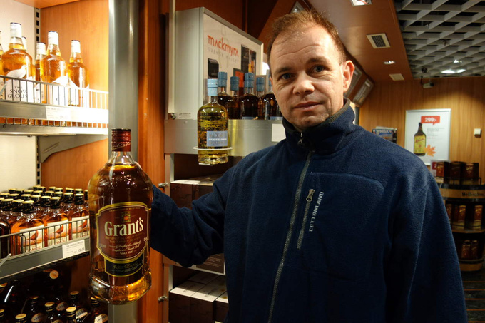 Tibor and the family-sized whiskey bottle