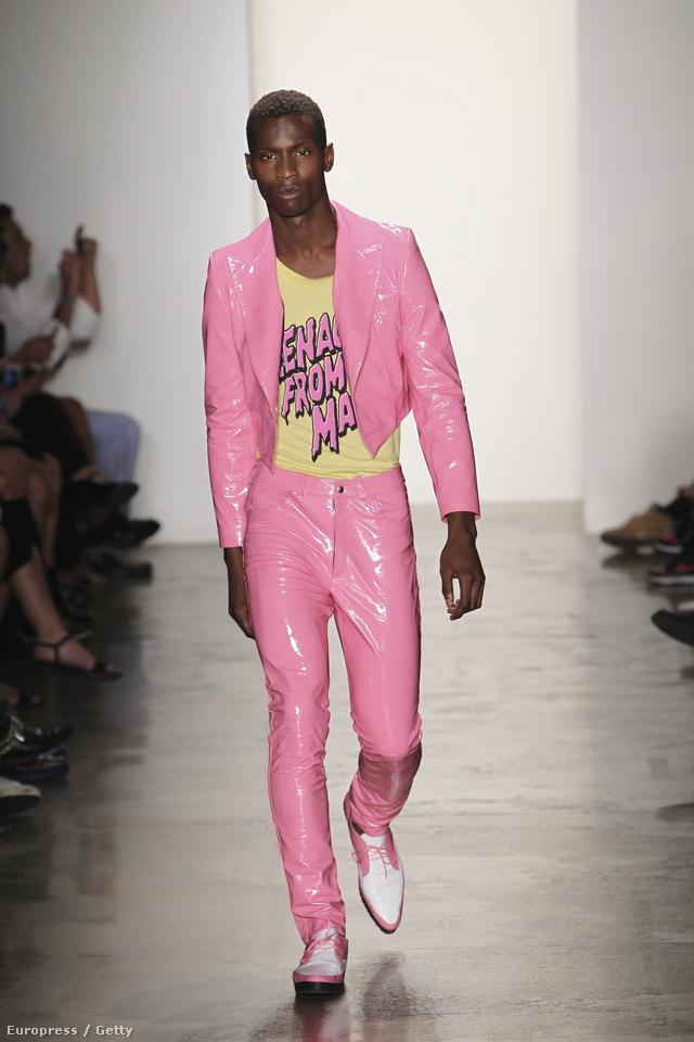 Pink lakkszerelés pasiknak Jeremy Scottól.