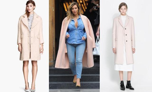 H&M kabát, Kardashian Céline kabátban és Zara kabát. Ugyanaz a stílus, három ár, kattintson tovább!