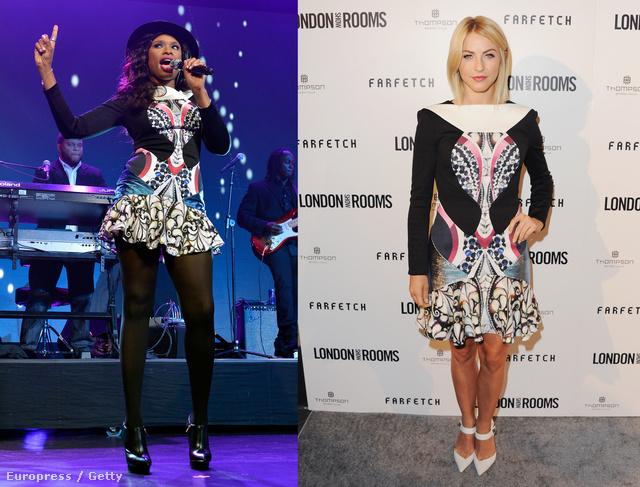 Ugyanaz a ruha, két különböző alakon.