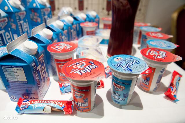 Laktózmentes termékek egy bemutatón, 2011-ben