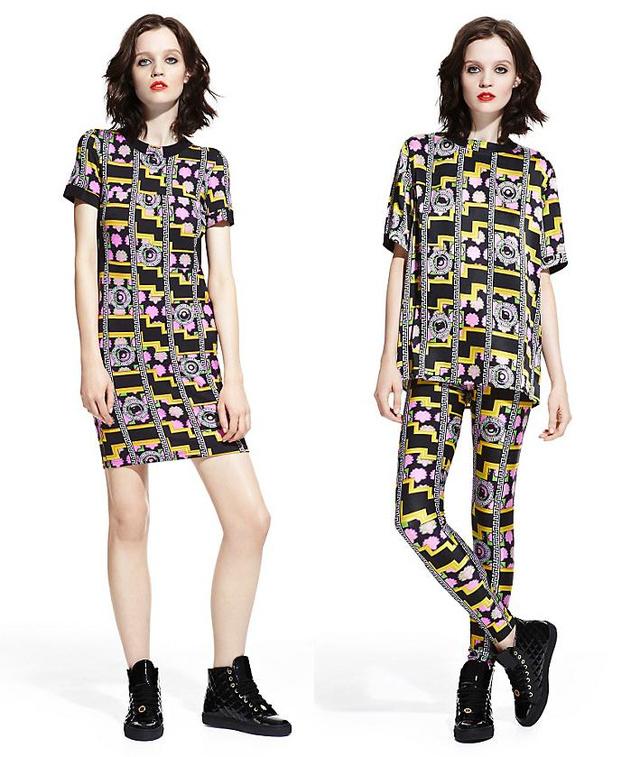 Árak balról jobbra: női ruha 165 font, selyeming 195 font, leggings 120 font, cipő 215 font.