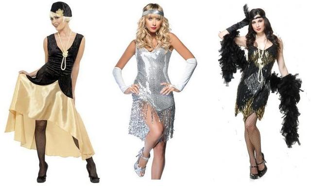 Variációk Nagy Gatsby stílusra: a jelmezek balról jobbra 7, 10 és 8 ezer forintba kerülnek, mindegyik elérhető az eBayen.