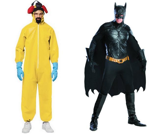 A Breaking Bad jelmez 12 ezer, a Batman komplett harci felszerelés pedig kb. 60 ezer forintba kerül.