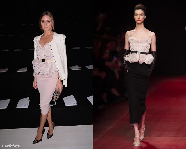 Igen, igaz: Olivia Palermo ugyanazt a felsőt viseli, mint a modell a kifutón.