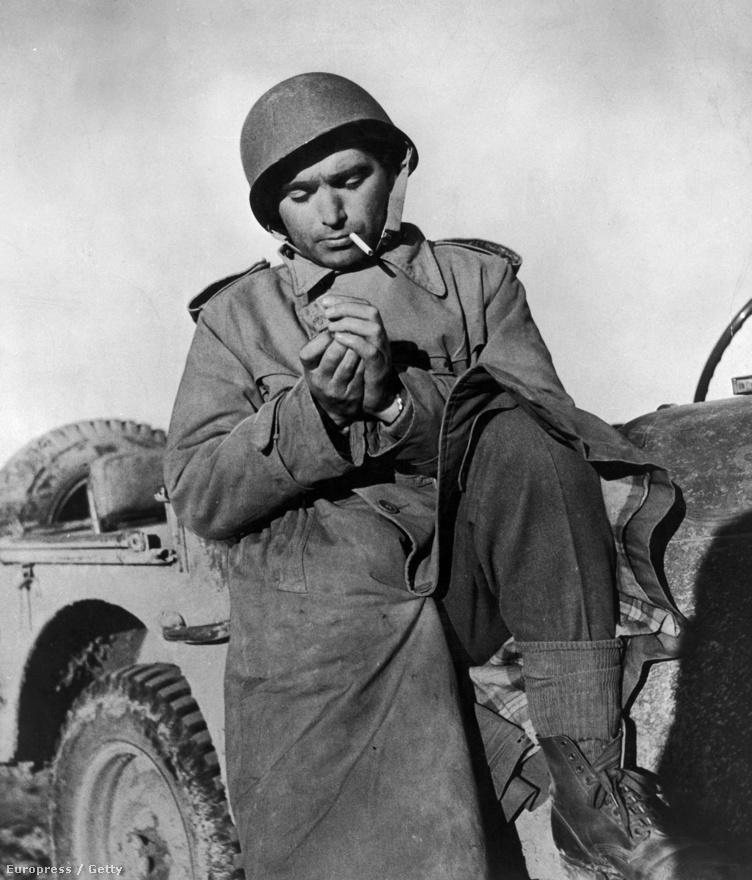 1942, szolgálatban a tunéziai fronton