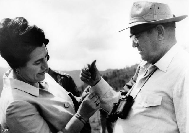 Jovanka és Josip Broz Tito 1977. október 25-én