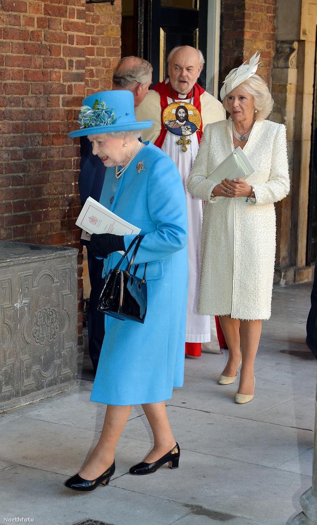 Erzsébet királynő egyik kedvenc árnyalatát választotta a ceremóniára.