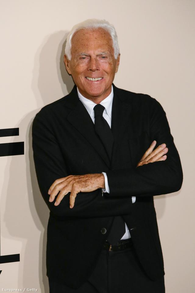 Az ünnepelt: Giorgio Armani.