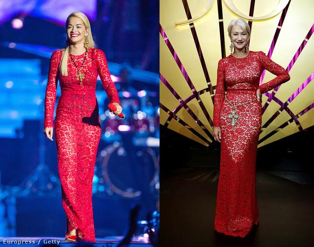 Akár unoka-nagymama párost is alkothatnának, de a ruha mindkettejüknek tökéletesen áll.