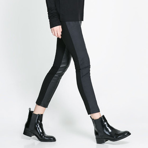 A leggingsek terén nem kell a mezei feketéhez ragaszkodnia, válasszon egy trükkösebb bőrbetéteset, Zara, 7595 Ft.
