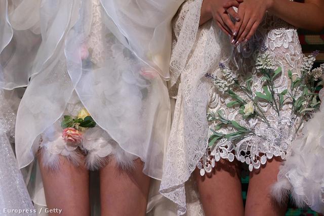 A taiwani Tsai Meiyue menyasszonyi ruhái a pekingi divathéten