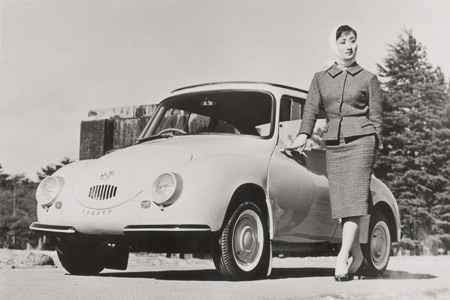 Advertisement of an early Subaru 360