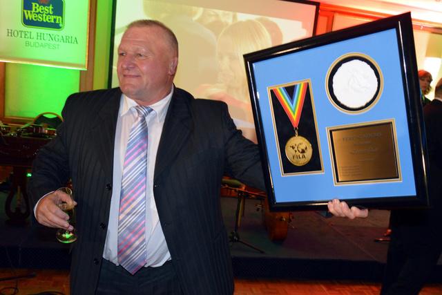 Kocsis Ferenc a budapesti birkózó világbajnokság alatt kapta meg az életműdíjat