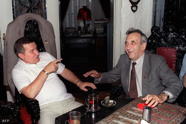 Mazowiecki és Walesa 1989 augusztusában