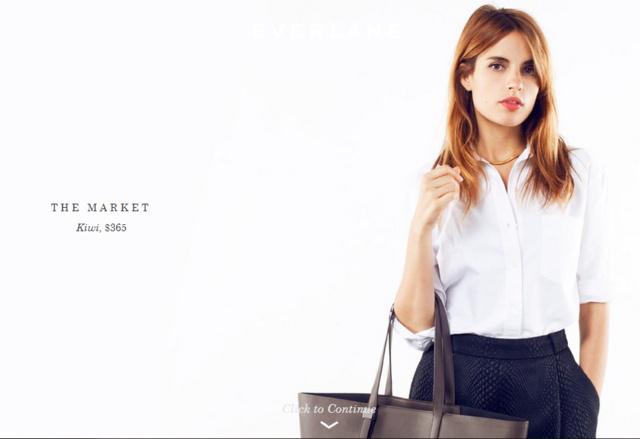 """Az Everlane Petra névre hallgató táskájának """"Market"""" verziója. 82 ezer forintba kerül."""