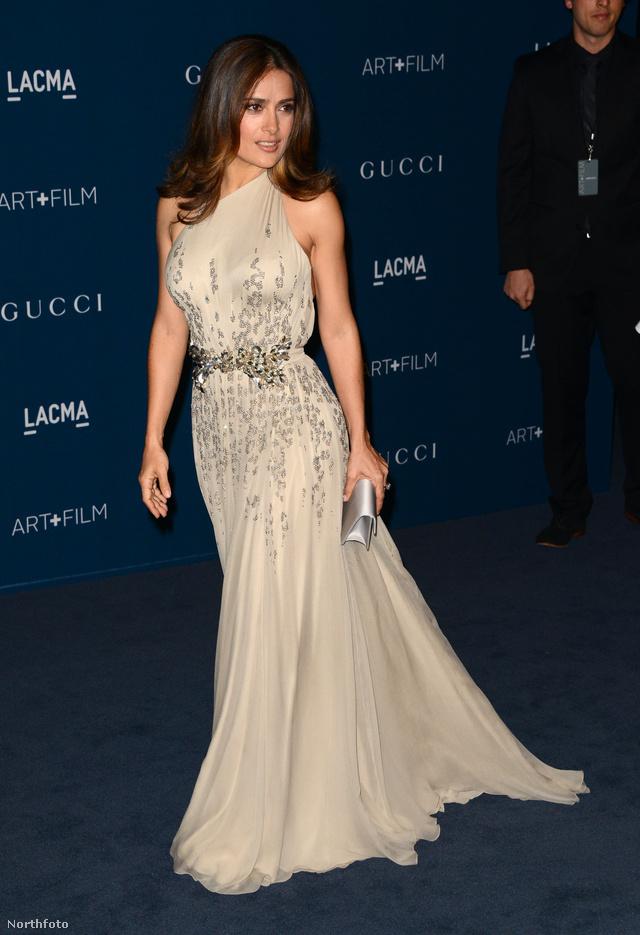Az egyetlen nő, aki pompásan nézett ki: Salma Hayek Gucciban.
