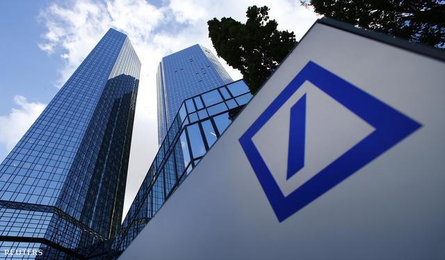 A Deutsche Bank központi irodájának épülete Frankfurtban