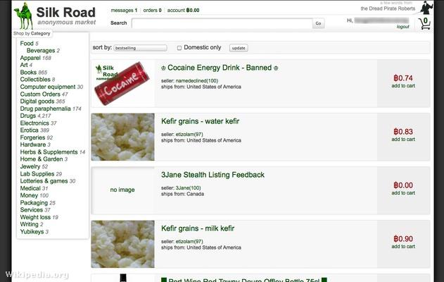 Silk Road Marketplace Item Screen