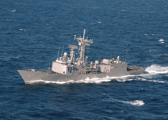 A USS Halyburton 2006-ban, Florida partjainál