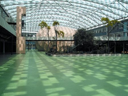 Természetes fény és zöld: a londoni Kingsdale School belső udvara