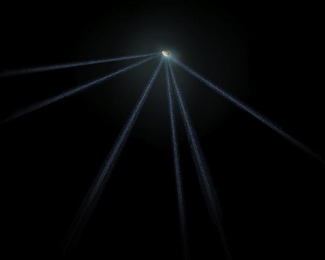 hubble-asteroid-tails-artist