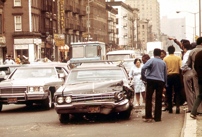 After an accident. Harlem, 1973