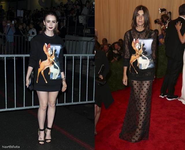 Lily Collins és Carine Roitfeld is Bambi-lázban égtek.