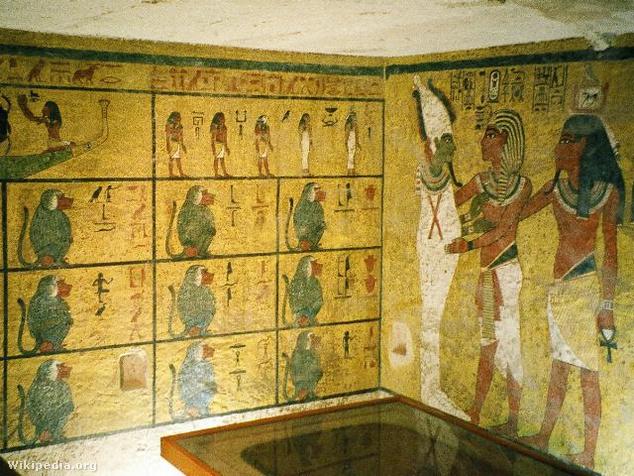 Tutankhamon sírkamrája, Egyiptom