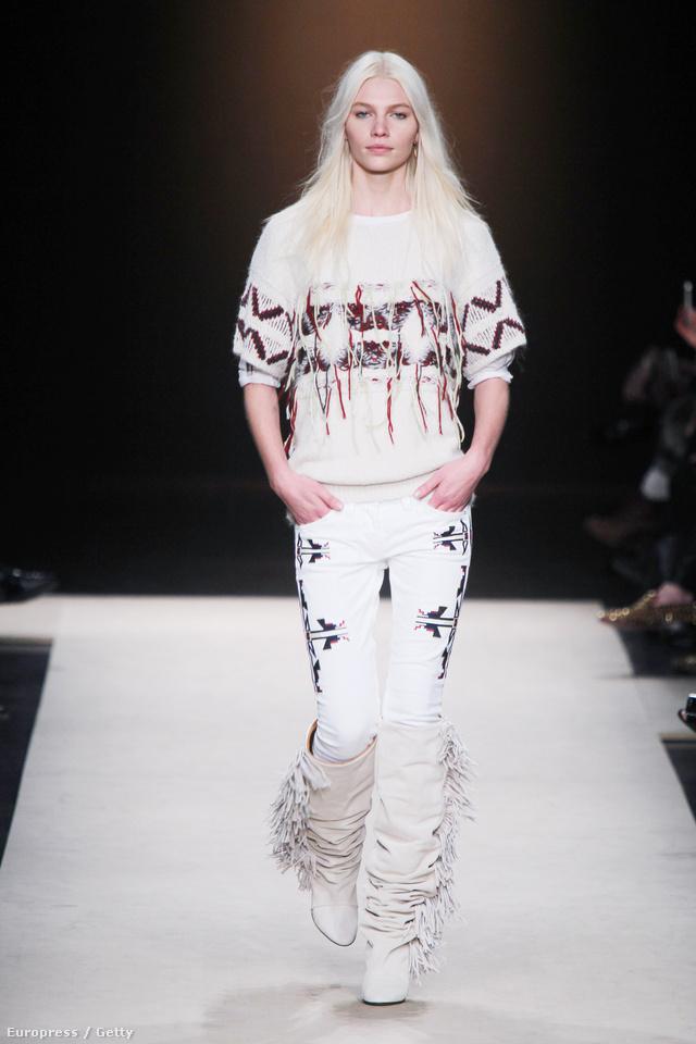 2011-12 ősz-tél: az egyik legsiekresebb kollekció. A mintás farmer, a rojtos csizma és a kötött pulóver is kapható lesz a H&M-nél.