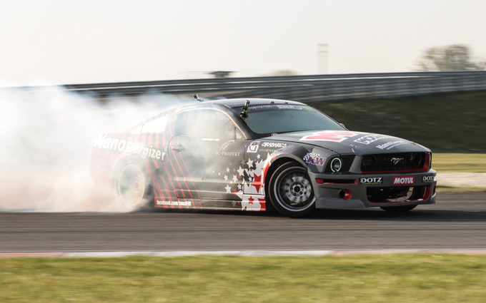The original homeland of drifting may be Japan, but the American V8 does the job, too