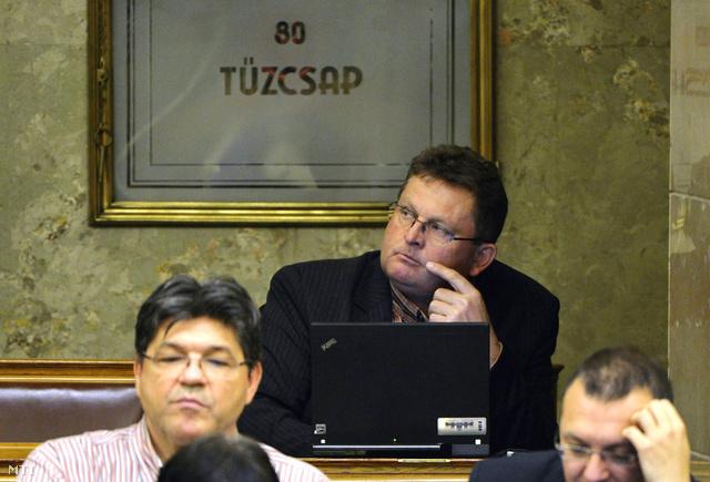 A Fidesz frakcióból kilépett Balogh József független képviselő az Országgyűlés plenáris ülésén 2013. november 11-én.