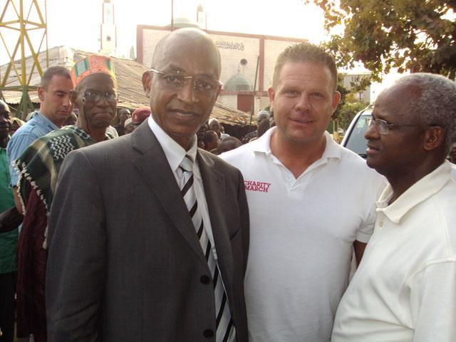 Welsz Tamás a Charity March egyik afrikai misszióján, 2010-ben