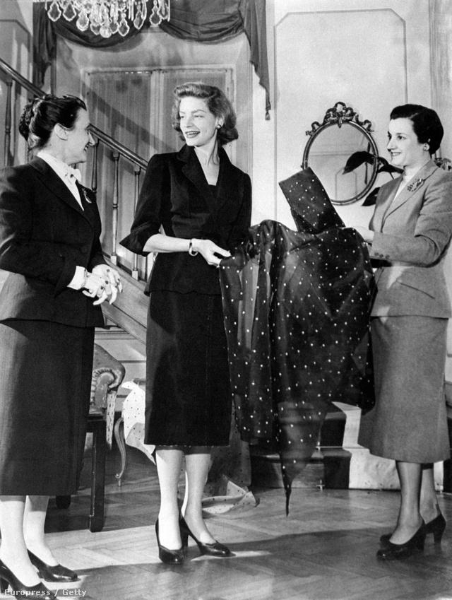 Micol Fontanaés  Giovanna Fontana a kor egyik ünnepelt sztárjával, Lauren Bacall-al találkozott a 1945-ben.