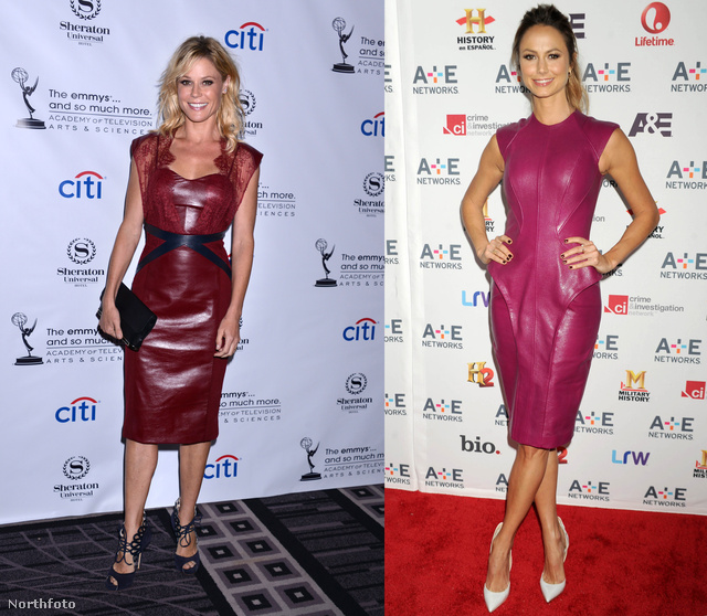 Julie Bowen és Stacy Keibler a lilás árnyalatok között nézelődött.