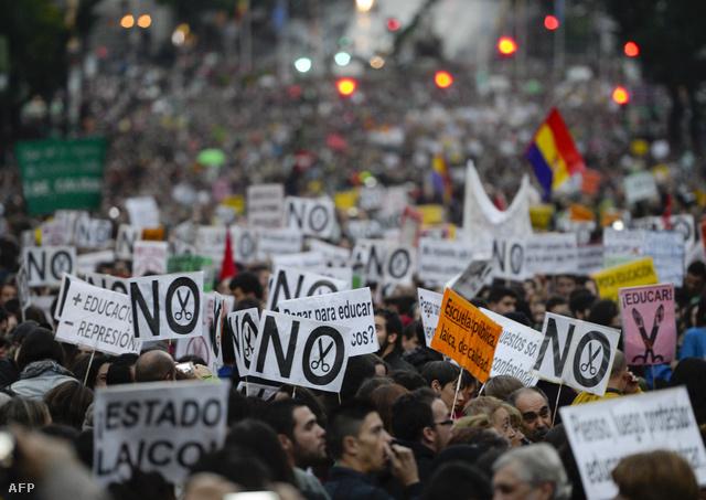 Madridban október 24-én vonultak utcára a hallgatók