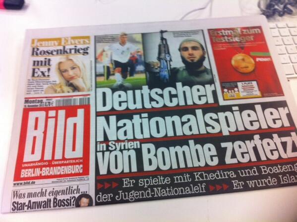 A német lapok címlapjára került Karan halálhíre