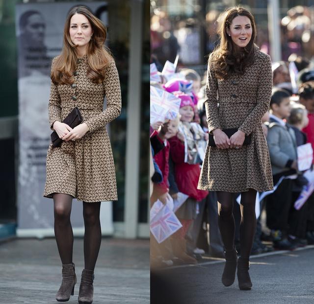 Katalin hercegné a bal oldali képen 2013 november 19-én, a jobb oldali képen 2012 február 21-én szerepel.