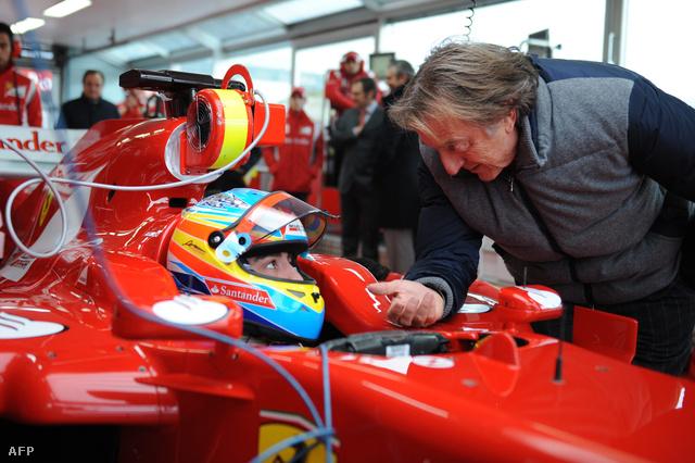 Alonso és Luca Di Montezemolo