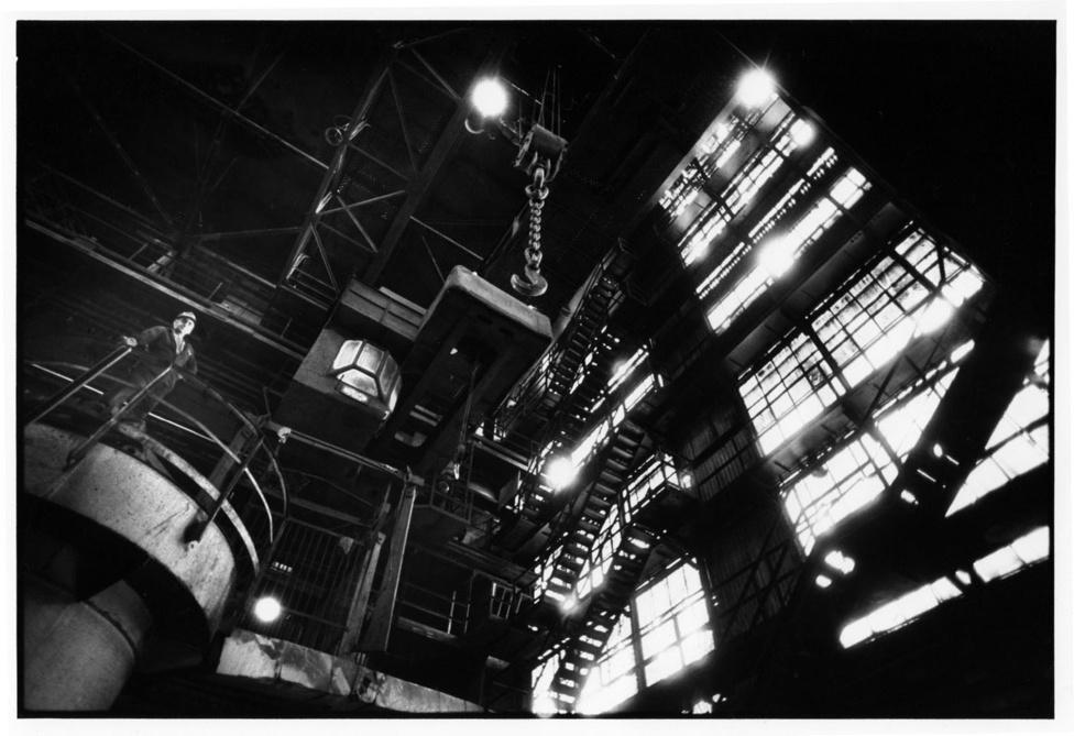 Acélmű öntőcsarnok. Ózd, 1988