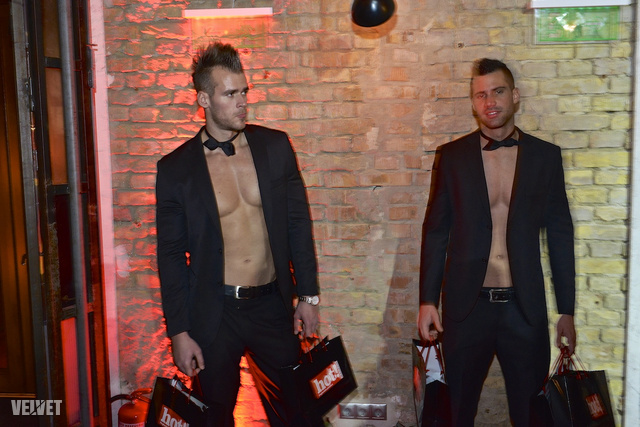 Elegáns-szexi férfimodellek a vendégek örömére