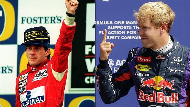 Senna és Vettel
