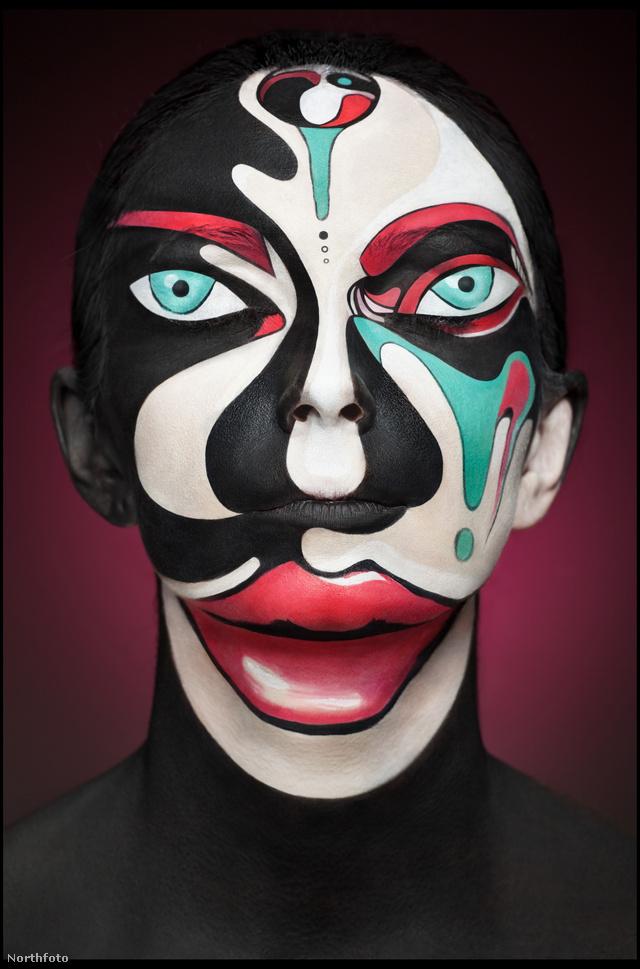 A szürreális maszkot a modernista művész, Tom Lane ihlette.